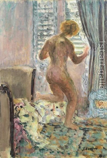 Nu A La Fenetre by Henri Lebasque - Reproduction Oil Painting