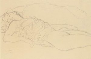 Reproduction oil paintings - Gustav Klimt - Liegende (Reclining Woman)