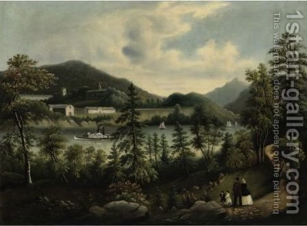United States Military Academy West Point From The Opposite Shore by (after) Tofannie Farmer - Reproduction Oil Painting