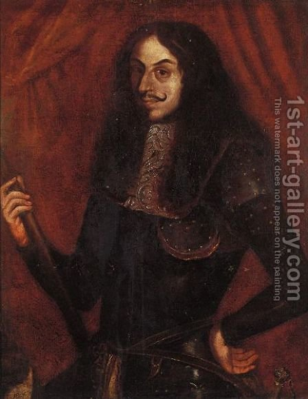 Ritratto Di Miguel De Cervantes Saavedra by Italian School - Reproduction Oil Painting