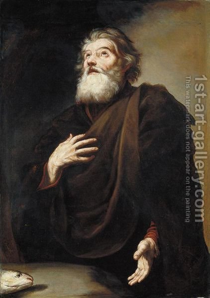 Sant'Andrea by (after) Jusepe De Ribera - Reproduction Oil Painting