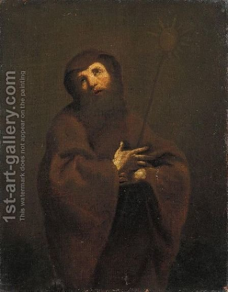 San Francesco Da Paola by (after) Giuseppe Maria Crespi - Reproduction Oil Painting