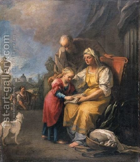 Educazione Della Vergine by Italian School - Reproduction Oil Painting