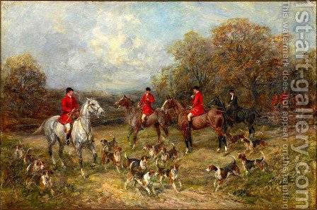 The Fox Hunt by Heywood Hardy - Reproduction Oil Painting