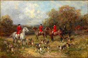 Famous paintings of Horses & Horse Riding: The Fox Hunt