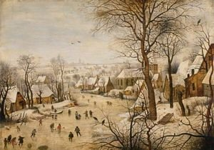 Famous paintings of Ice skating: The Bird Trap