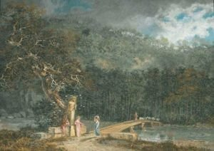 Reproduction oil paintings - Salomon Gessner - Arkadische Landschaft, 1783