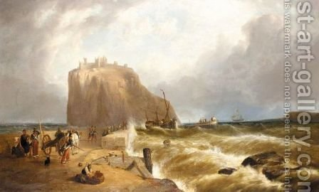 The Castle Of Ischia From The Mole by (after) William Clarkson Stanfield - Reproduction Oil Painting