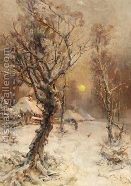 Winter Landscape 2 by Iulii Iul'evich (Julius) Klever - Reproduction Oil Painting