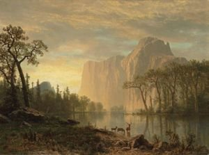 Reproduction oil paintings - Albert Bierstadt - El Capitan, Yosemite