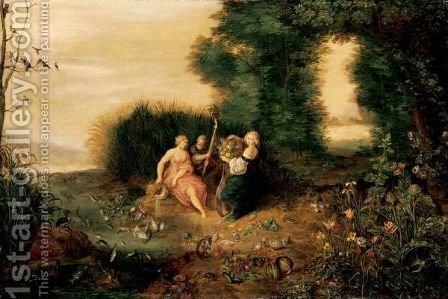 An Allegory Of The Elements by (after) Jan, The Younger Brueghel - Reproduction Oil Painting