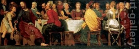 Christ At The Marriage Feast At Cana by (after) Adam Van Noort - Reproduction Oil Painting