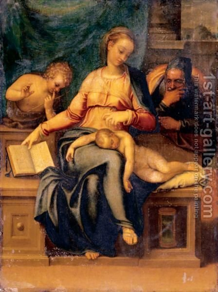 The Holy Family With Saint John The Baptist by (after) Marcello Venusti - Reproduction Oil Painting