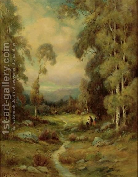 In The Forest by Alexis Matthew Podchernikoff - Reproduction Oil Painting