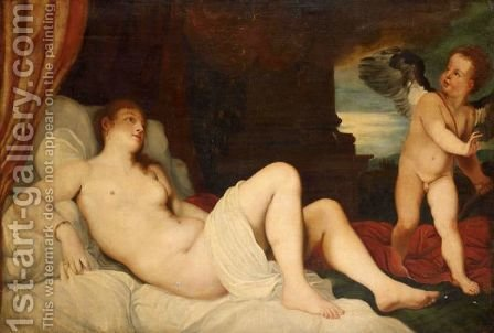 Danae by (after) Tiziano Vecellio (Titian) - Reproduction Oil Painting