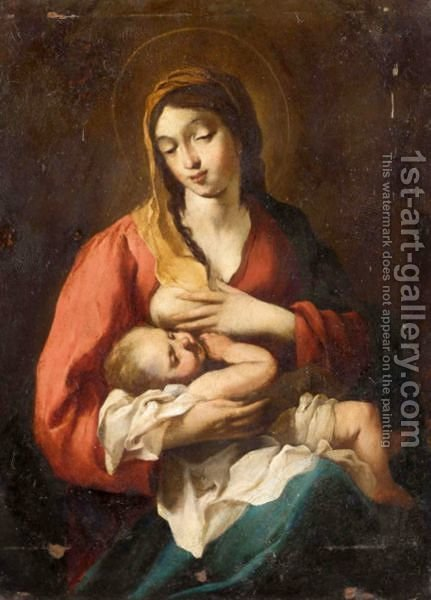 The Madonna And Child by (after) Jean Tassel - Reproduction Oil Painting