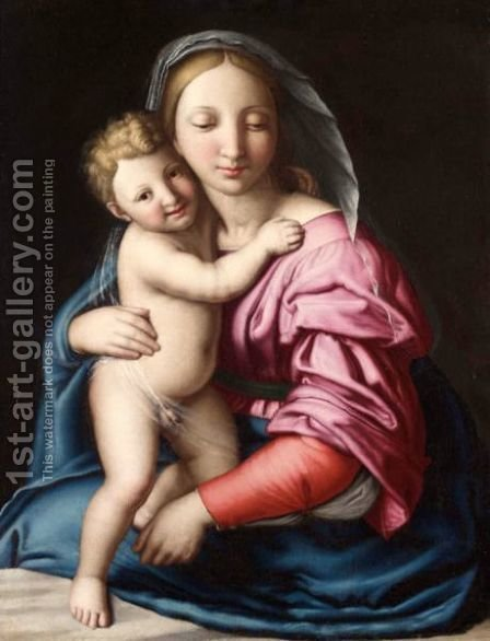The Madonna And Child 5 by Giovanni Battista Salvi, Il Sassoferrato - Reproduction Oil Painting