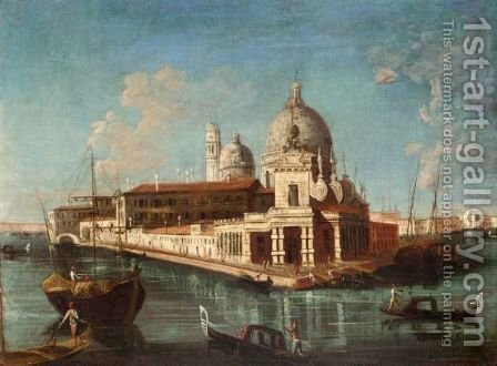 Venice, A View Of The Entrance Of The Grand Canal With Santa Maria Della Salute Behind by (after) Michele Marieschi - Reproduction Oil Painting
