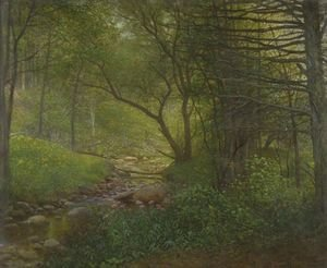 Reproduction oil paintings - William Lippincott - Woods And Stream