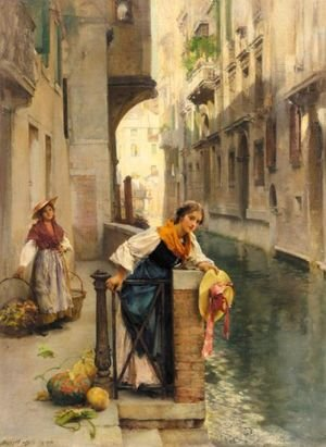 Reproduction oil paintings - Henry Woods - Fruit Sellers From The Islands, Venice