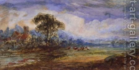 Landscape with a ruin by - Unknown Painter - Reproduction Oil Painting