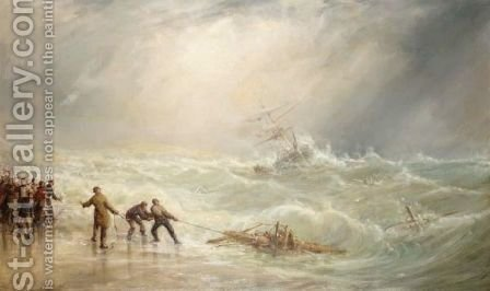 Wreck Of The Nable, Isle Of Man by (after) William Edward Webb - Reproduction Oil Painting