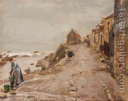 A Wet Day, St. Monans by Alexander Ignatius Roche - Reproduction Oil Painting