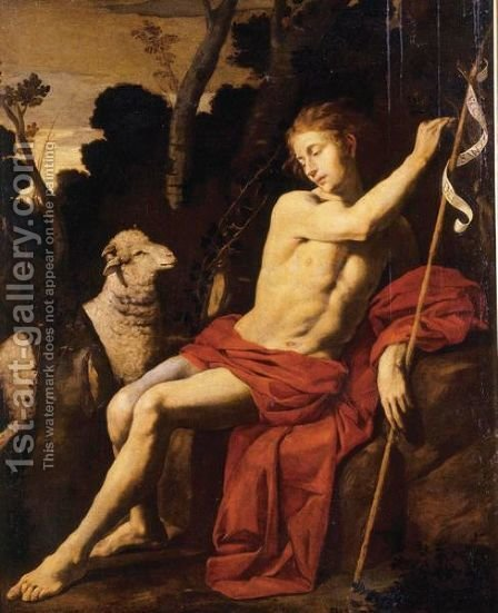 Saint John The Baptist by Hendrik Van Somer - Reproduction Oil Painting