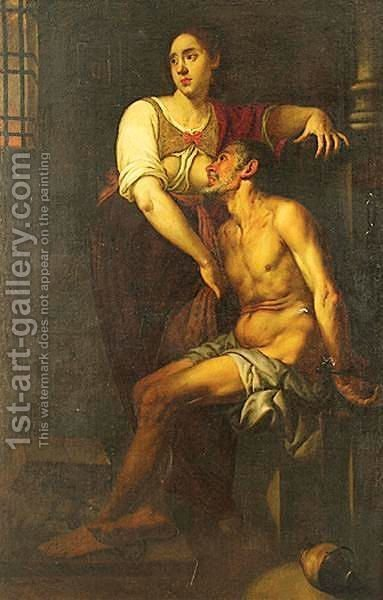 Roman Charity by (after) Murillo, Bartolome Esteban - Reproduction Oil Painting