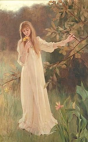 Reproduction oil paintings - Albert Lynch - A Young Woman In White