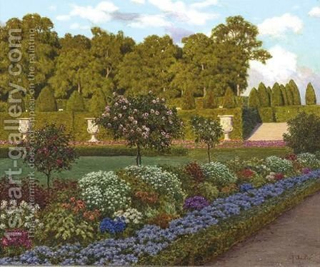 A Garden In The Afternoon by Ivan Fedorovich Choultse - Reproduction Oil Painting