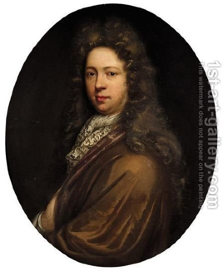 Portrait Of John Dobson (1652-1730) by (after) John Riley - Reproduction Oil Painting