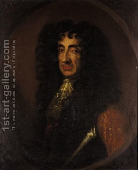 Portrait Of King Charles II by (after) Sir Peter Lely - Reproduction Oil Painting