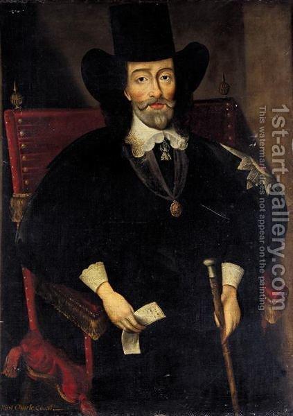 Portrait Of King Charles I At His Trial (1600-1649) by (after) Edward Bower - Reproduction Oil Painting