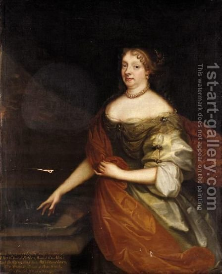 Portrait Of Lady Margaret Leslie, Daughter Of John, 6th Earl Of Rothes by (after) Sir Peter Lely - Reproduction Oil Painting