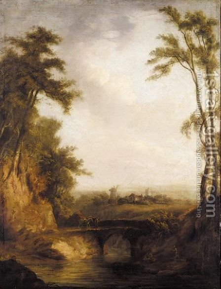 The Woodland Bridge by (after) Thomas Barker Of Bath - Reproduction Oil Painting