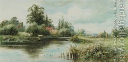 On The Thames Near Stoke by Henry John Kinnaird - Reproduction Oil Painting