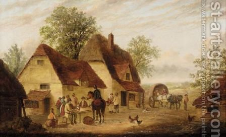 Playing In The Farmyard by (after) Georgina Lara - Reproduction Oil Painting