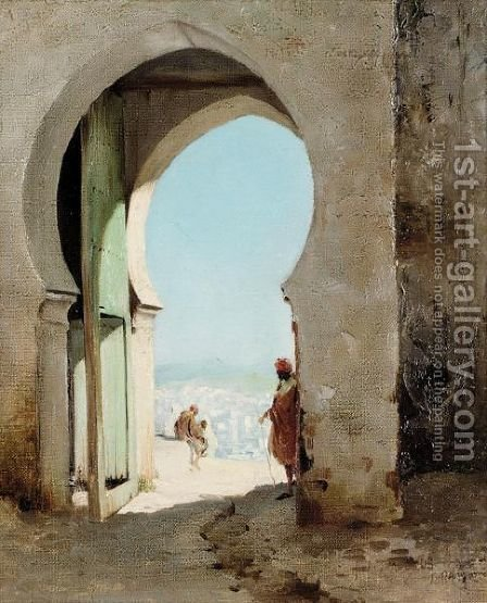 The Casbah Gate, Tangier by Henry Jones Thaddeus - Reproduction Oil Painting