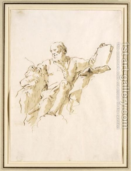 St. Mark The Evangelist by Giovanni Domenico Tiepolo - Reproduction Oil Painting