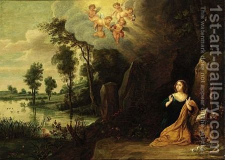 Mary Magdalen In Penitence by (after) Pieter Van Avont - Reproduction Oil Painting