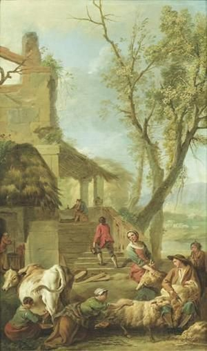 Reproduction oil paintings - Jean-Baptiste-Marie Pierre - Les Quatre Saisons jean-Baptiste-Marie Pierrethe Four Seasons