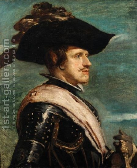 Portrait Of King Philip IV Of Spain (1605 - 1665) by (after) Diego Rodriguez De Silva Y Velazquez - Reproduction Oil Painting