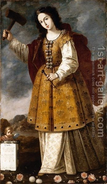 Jael by (after)  Francisco De Zurbaran - Reproduction Oil Painting