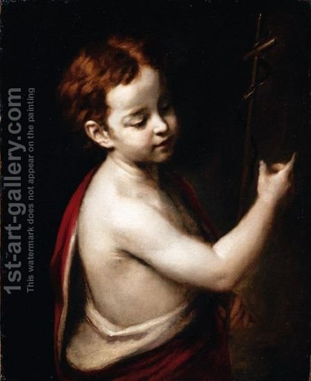 Saint John The Baptist by (after) Murillo, Bartolome Esteban - Reproduction Oil Painting