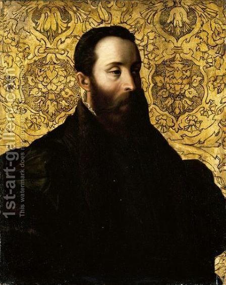 Portrait Of Pier Maria Rossi III, Count Of San Secondo (1521-1547) by (after) Girolamo Francesco Maria Mazzola (Parmigianino) - Reproduction Oil Painting