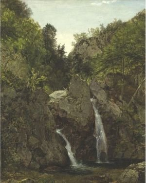 Reproduction oil paintings - John Frederick Kensett - Bash-Bish Falls 3