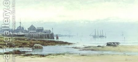 Coastal Harbor by Alfred Thompson Bricher - Reproduction Oil Painting