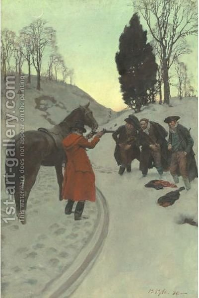 Small Game Better Than None by Howard Pyle - Reproduction Oil Painting