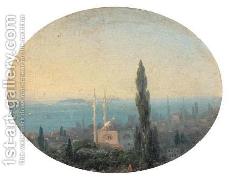 View Over Istanbul by (after) Ivan Konstantinovich Aivazovsky - Reproduction Oil Painting